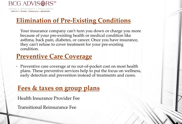 Elimination of Pre-Existing Conditions