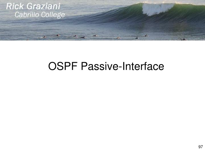 OSPF Passive-Interface