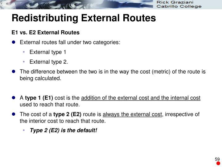 Redistributing External Routes