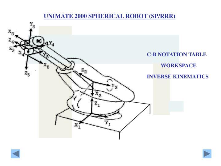 UNIMATE 2000 SPHERICAL ROBOT (SP/RRR)