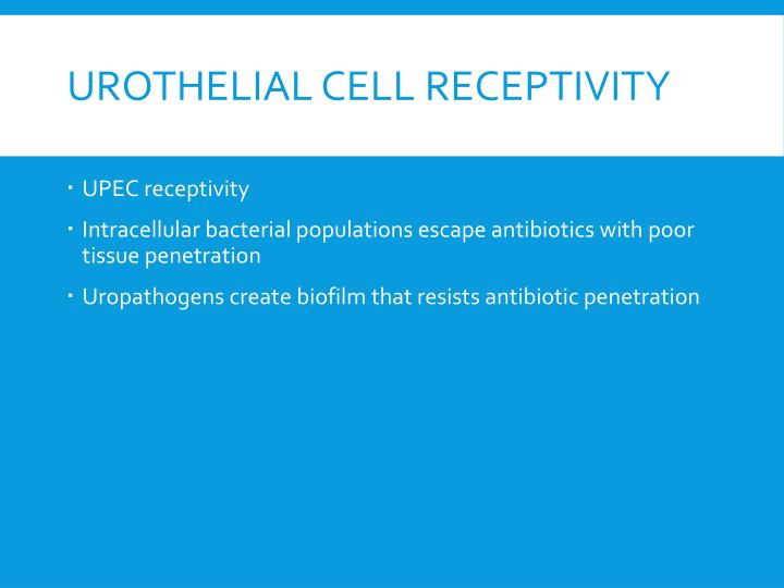 Urothelial Cell Receptivity