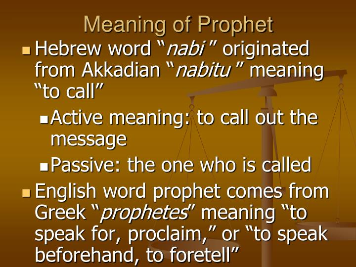 Meaning of prophet
