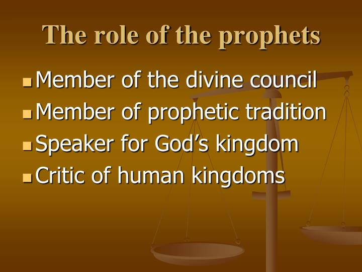 The role of the prophets
