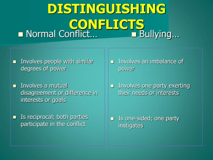 Normal Conflict…