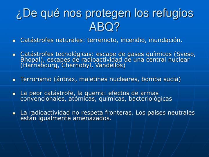 ¿De qué nos protegen los refugios ABQ?