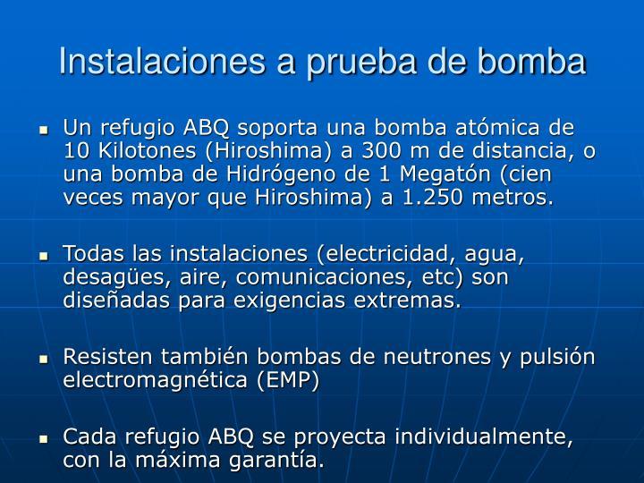 Instalaciones a prueba de bomba