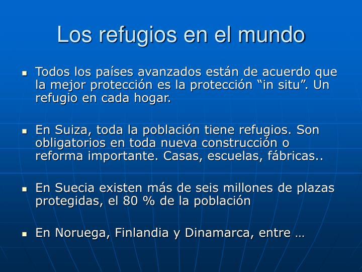 Los refugios en el mundo