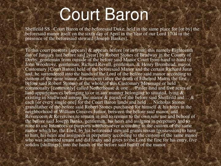 Court Baron