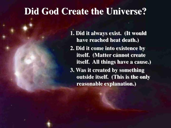 Did God Create the Universe?