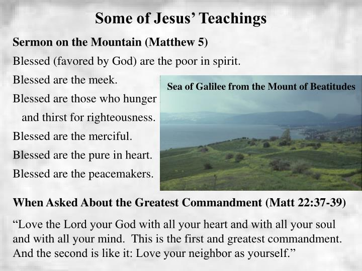 Some of Jesus' Teachings