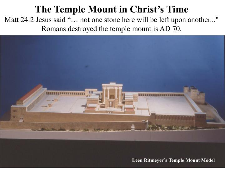 The Temple Mount in Christ's Time