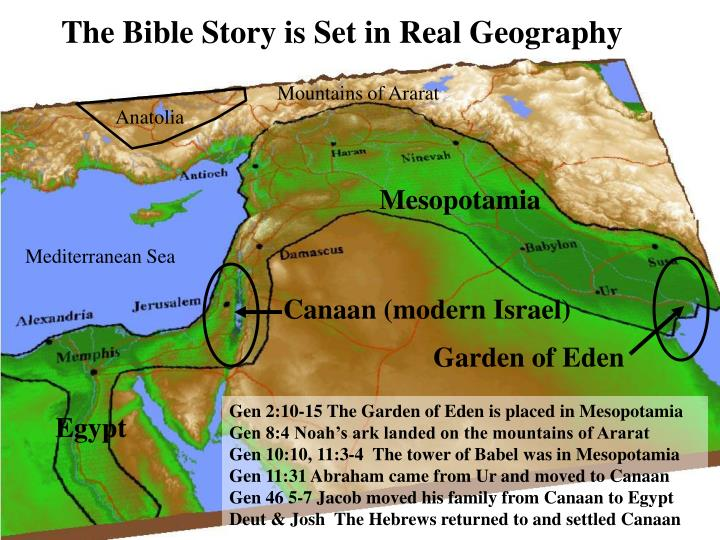 The Bible Story is Set in Real Geography