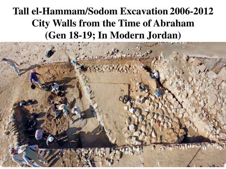 Tall el-Hammam/Sodom Excavation