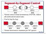 segment by segment control