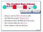 the explicit rate scheme