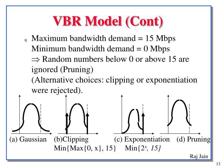 VBR Model (Cont)