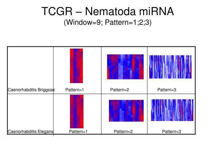 TCGR – Nematoda miRNA