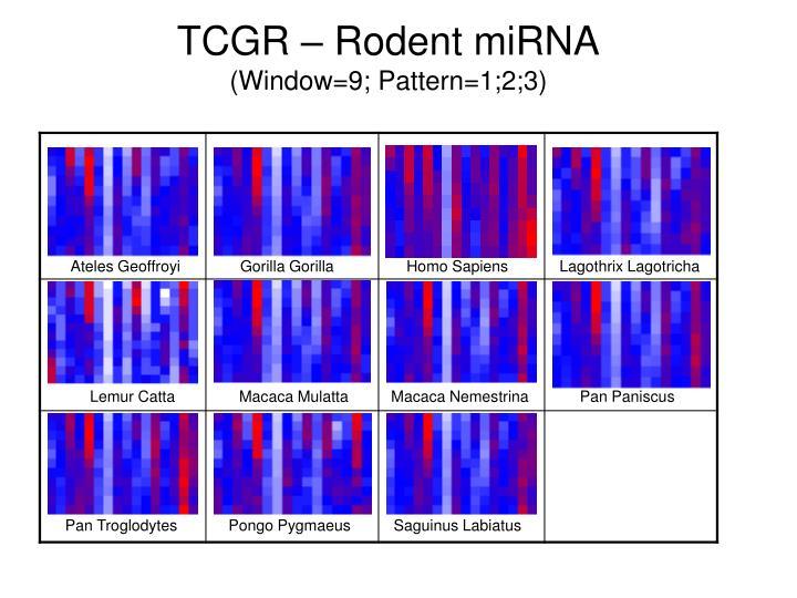 TCGR – Rodent miRNA