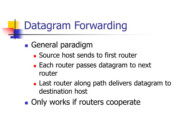 Datagram Forwarding