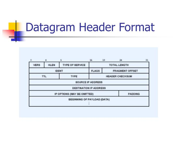 Datagram Header Format