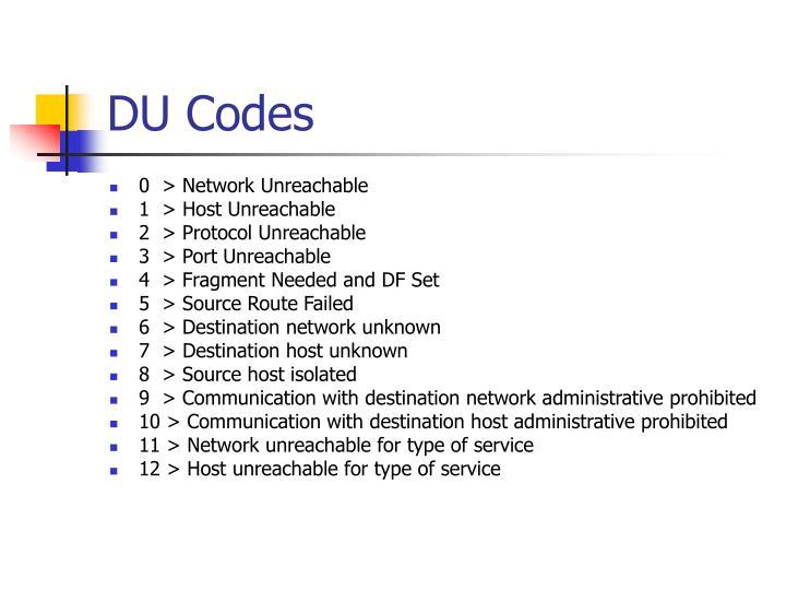 DU Codes
