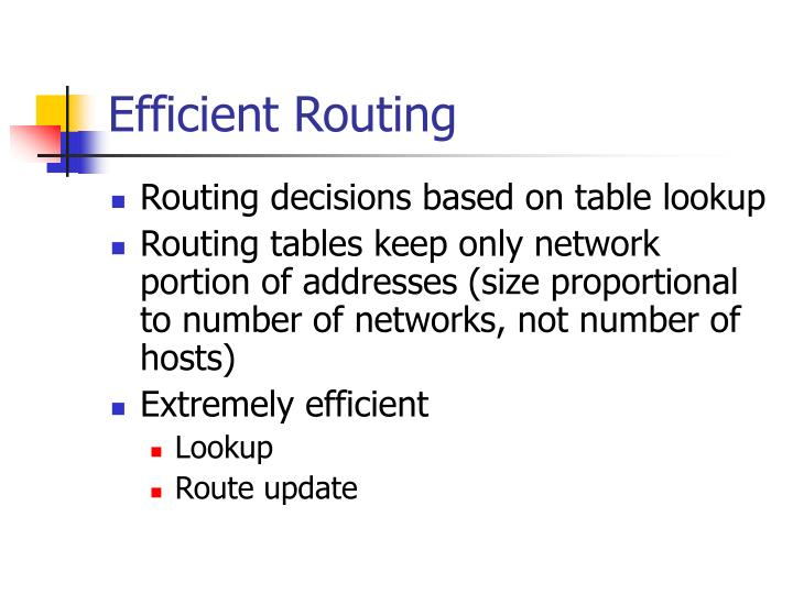 Efficient Routing