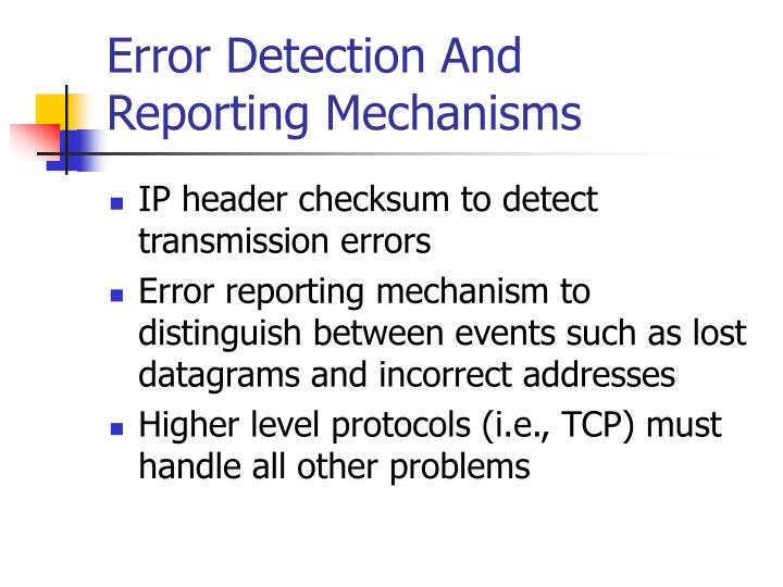 Error Detection And