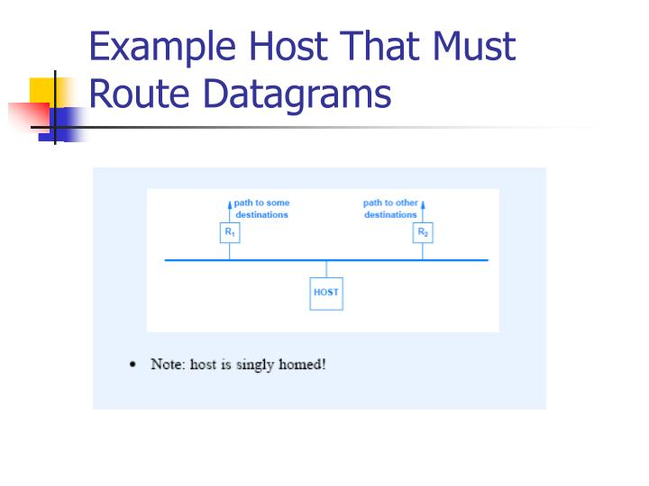 Example Host That Must Route Datagrams