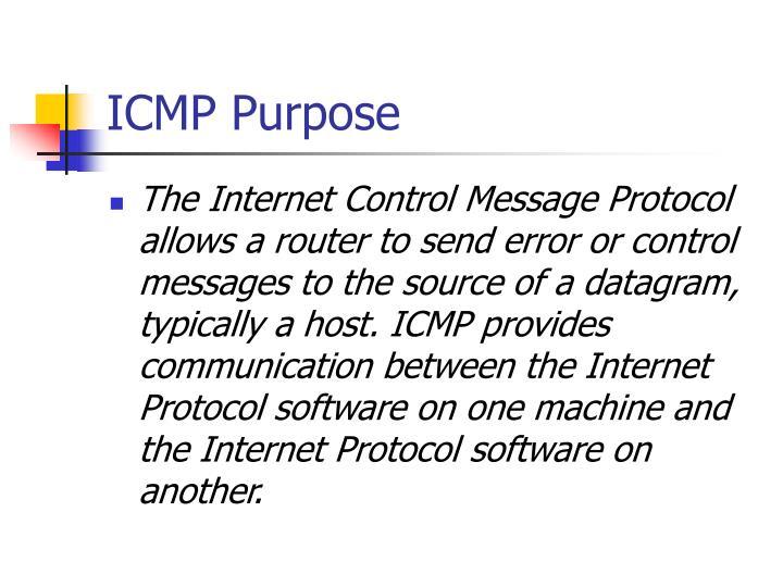 ICMP Purpose