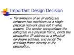 important design decision