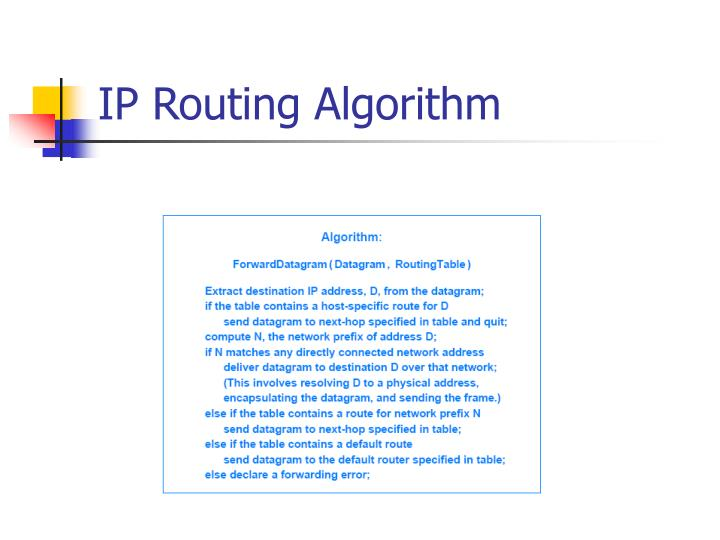 IP Routing Algorithm