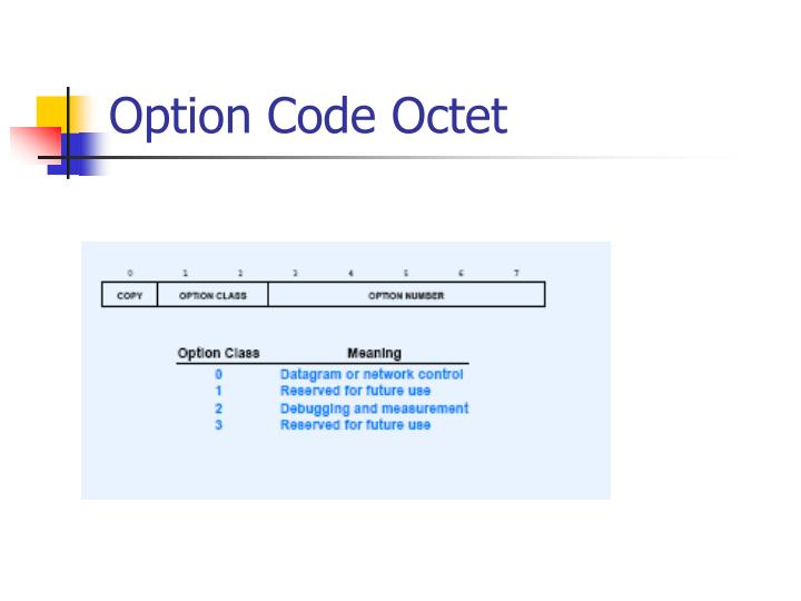 Option Code Octet