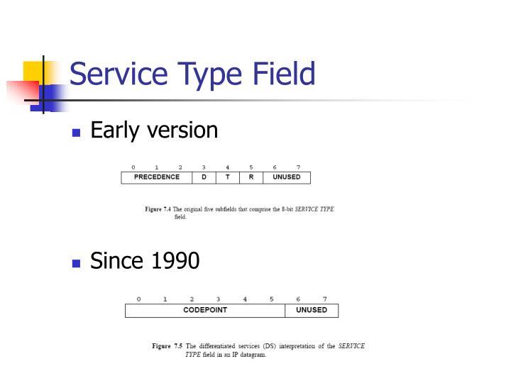Service Type Field