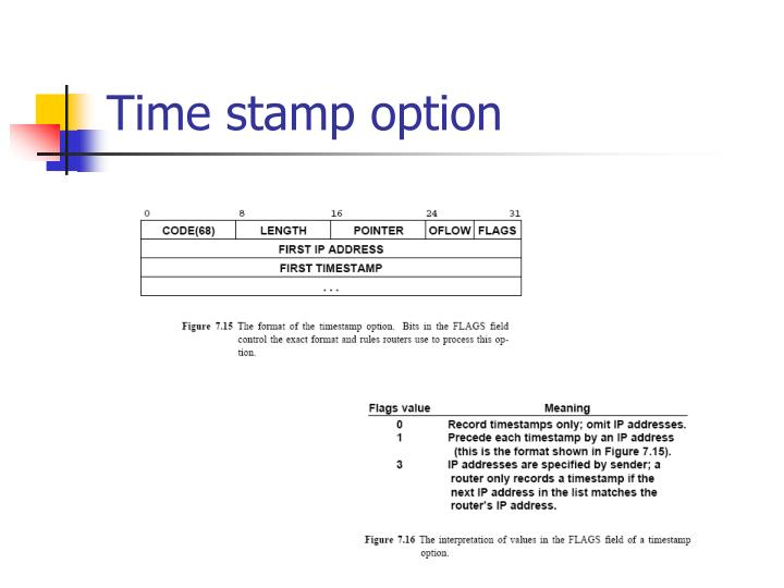 Time stamp option