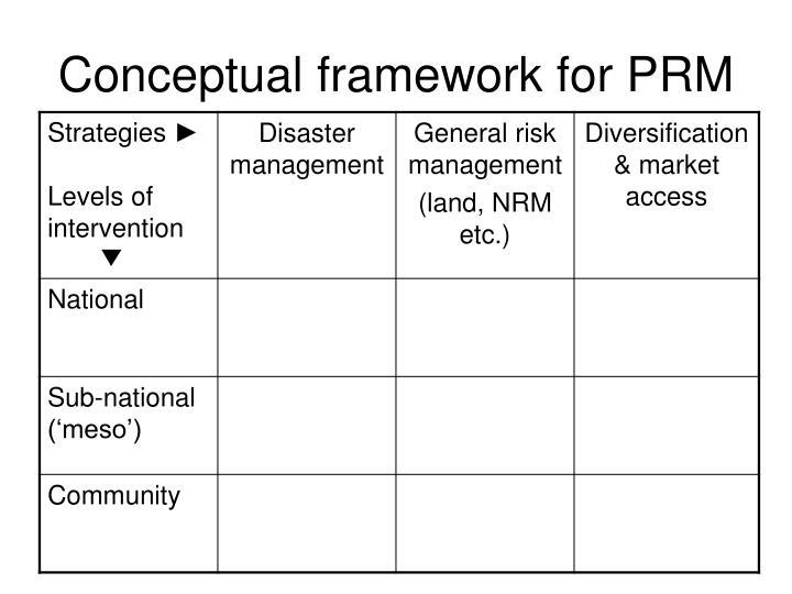 Conceptual framework for PRM