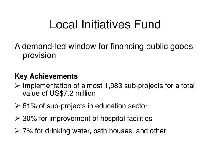 Local Initiatives Fund