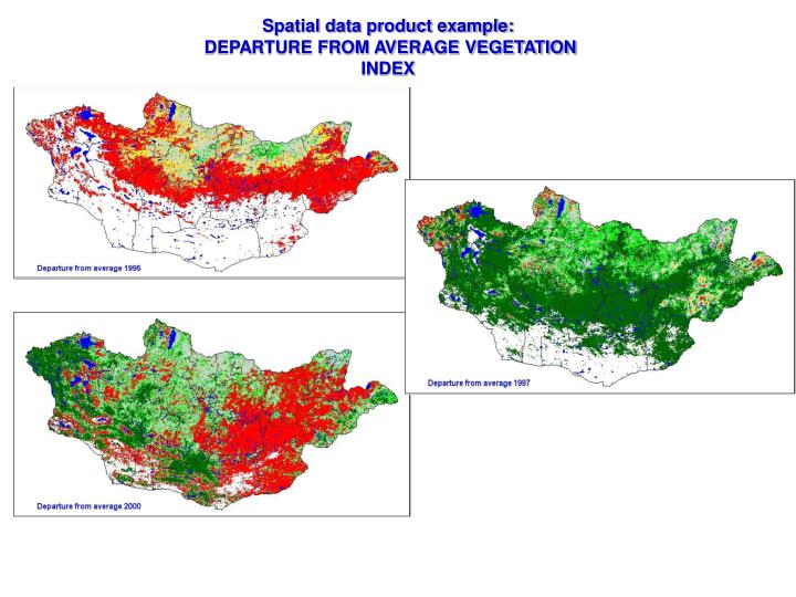 Spatial data product example: