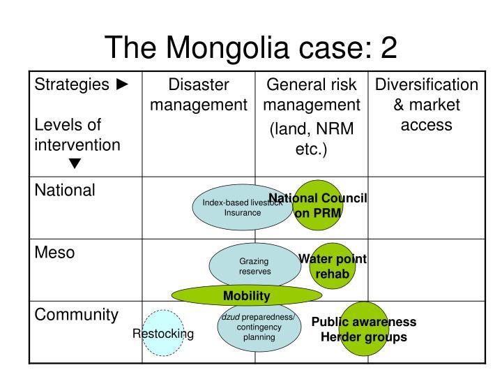 The Mongolia case: 2