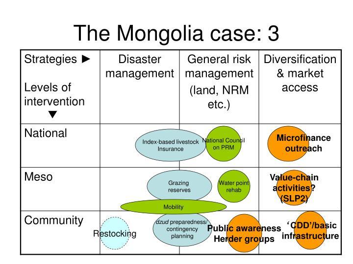 The Mongolia case: 3