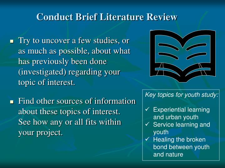 Conduct Brief Literature Review