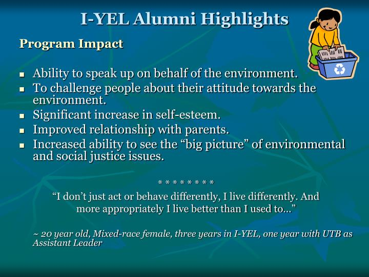I-YEL Alumni Highlights