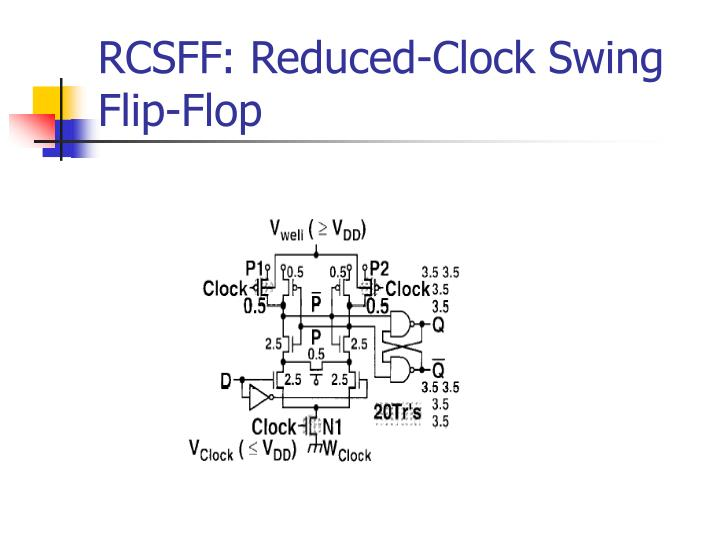 RCSFF: Reduced-Clock Swing Flip-Flop