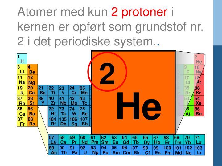 Atomer med kun