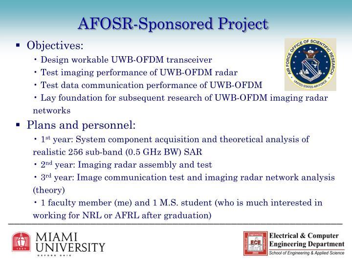 AFOSR-Sponsored Project