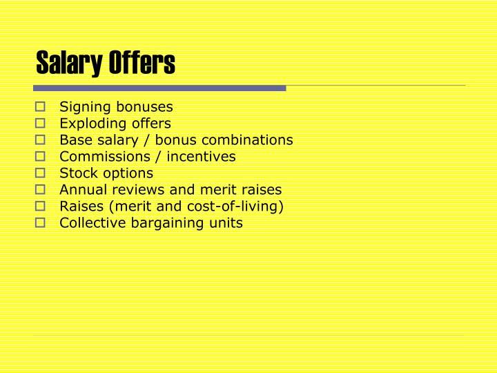 Salary Offers