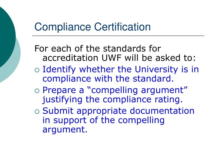 Compliance Certification