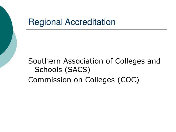 Regional Accreditation