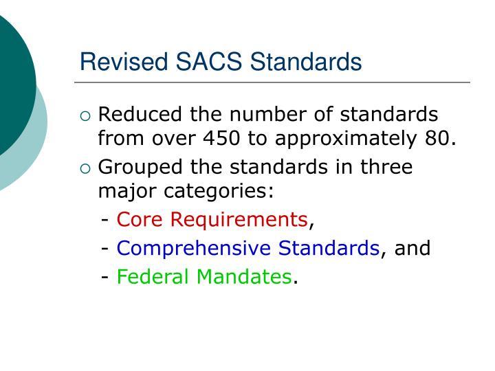 Revised SACS Standards
