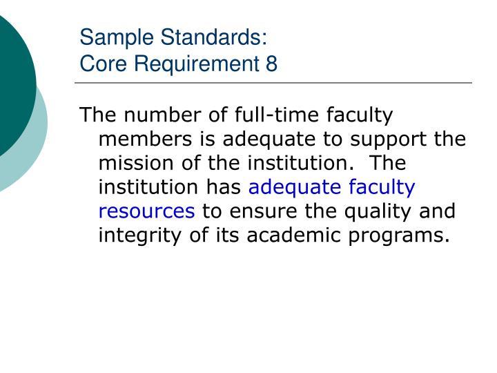 Sample Standards: