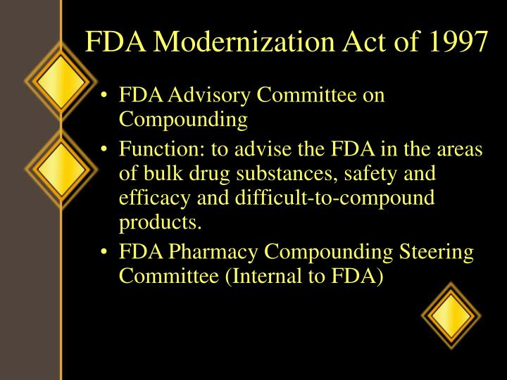 FDA Modernization Act of 1997